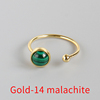 Gold-14 malachite