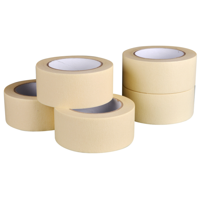 Supply 50 mm x 50 m corrugated paper masking tape for carton packaging, interior decoration and handmade