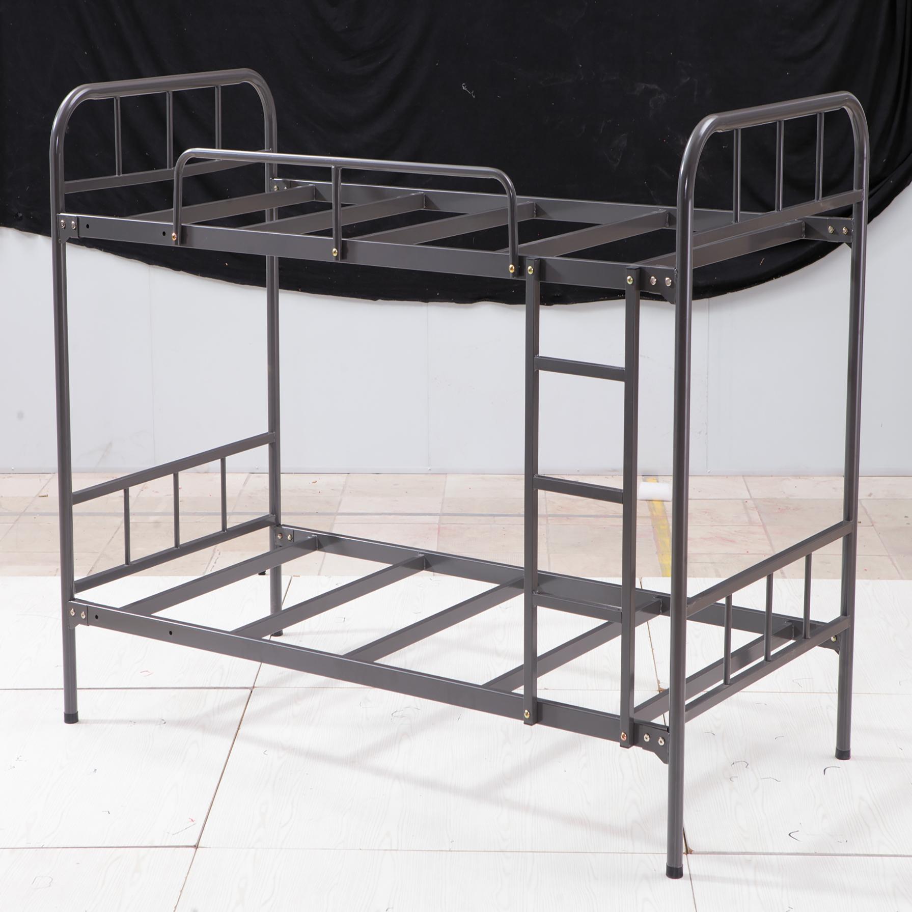 Современная гостиничная промышленная стальная кровать, армейский металл