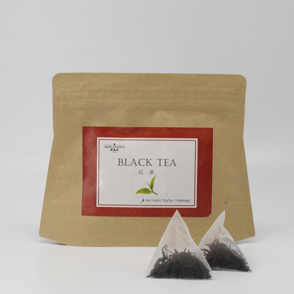 Sample Free Organic OEM Bagged Tea in Triangle Black Tea Bags - 4uTea   4uTea.com