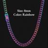 8mm Rainbow Fold Clasp Cuban Chain