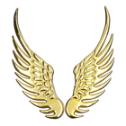 Custom High Quality Car Sticker Wing Metal Badge Emblem For Car Accessory/Decoraction