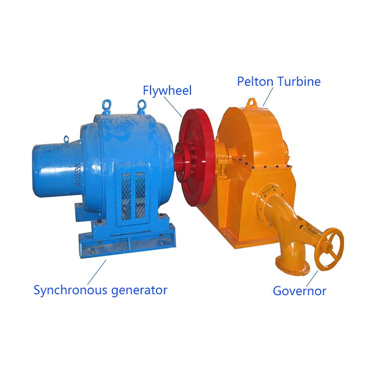 Бытовой гидроэлектрический мини-гидрогенератор, небольшой Пелтон-колесный микро-гидрогенератор