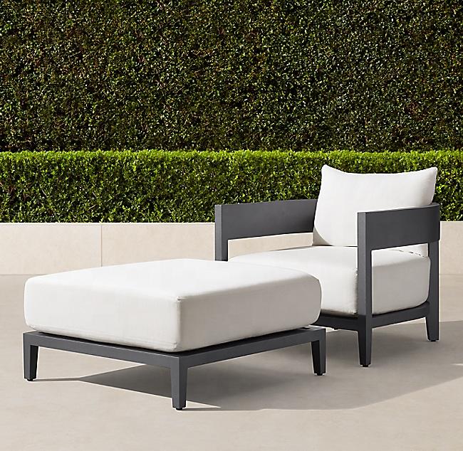 Наружные садовые наборы для балкона, гостиничное алюминиевое кресло-стул для патио, мебель