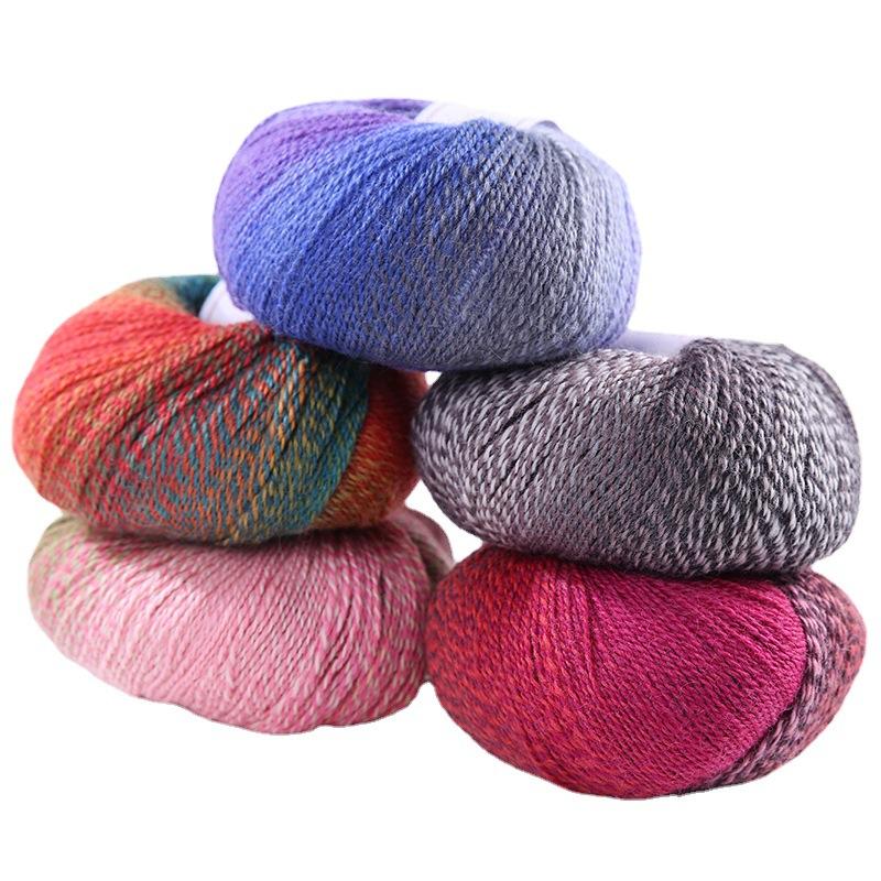 Blend Melange Yarn Cheap Price Fashion Eco Friendly colorful wool nylon blend yarn