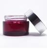 Red fancy glass jars