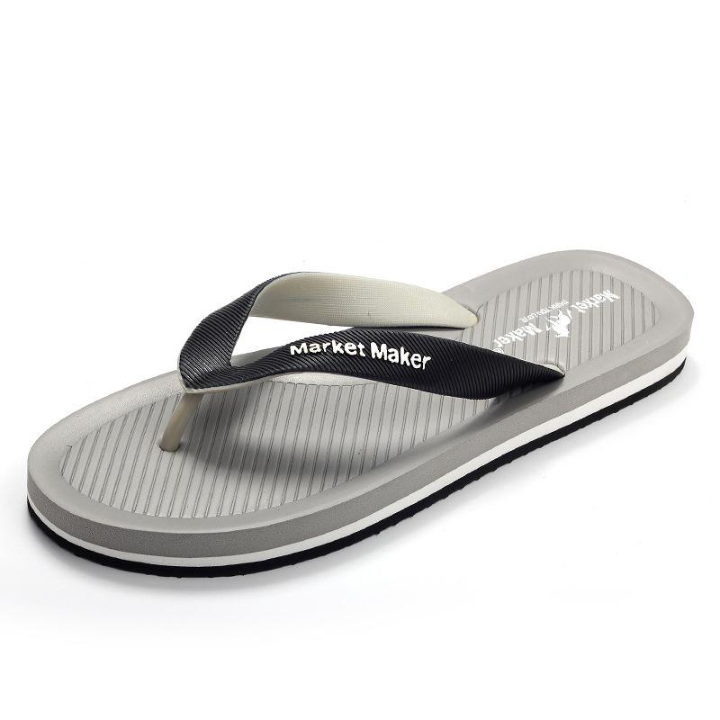 Сандалии мужские Нескользящие, ПВХ, летние пляжные шлепанцы, последний дизайн