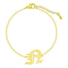 Женский винтажный браслет с буквой алфавита 26 A-Z(Китай)