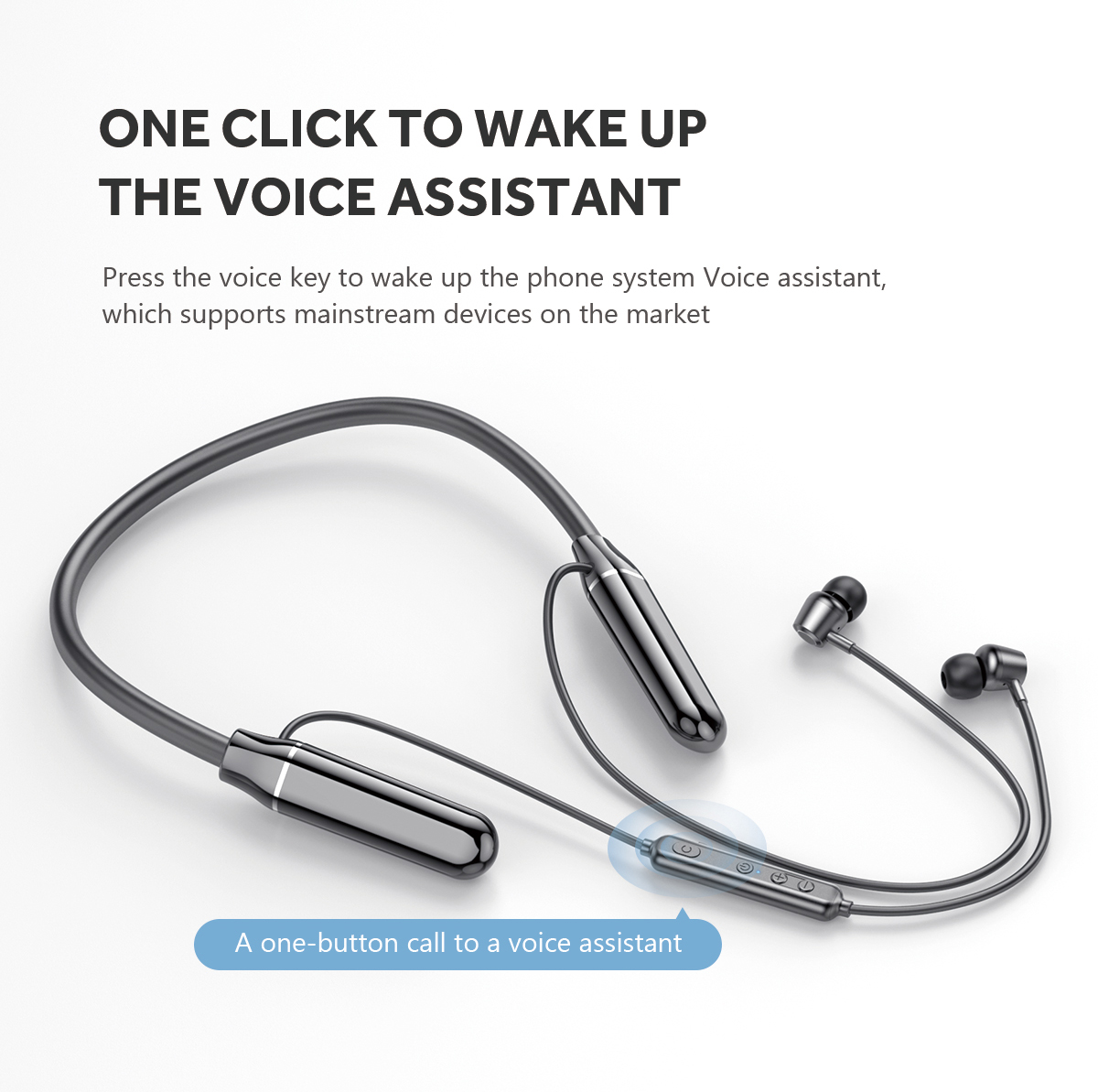 2021 new wireless headset neck hanging neck sports Stereo Noise Reduction earphone & headphone