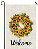 sunflowers welcome flag