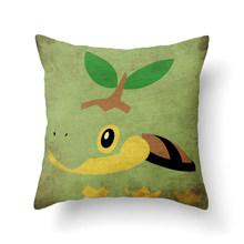 Декоративная наволочка с изображением покемона из мультфильма Пикачу, наволочка с принтом для дивана, стула, домашнего декора, плюшевая ква...(Китай)