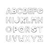 8mm plain chrome letters