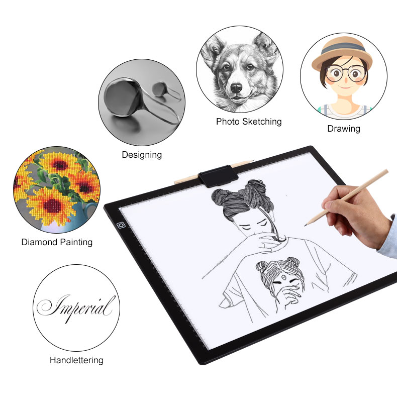 Лидер продаж на Amazon, цифровой планшет a3, Лайтбокс для алмазов/КТ/эскиз/рисования для светодиодной подсветки a3