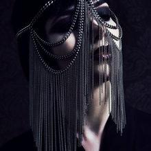 Женская маска для украшений WKOUD EAM, маска из металлического сплава в стиле панк, вечерние аксессуары для подарка, ZJ531, 2020(Китай)
