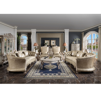 Factory price luxury living room sofa set royal palace hand carved sofa european living room furniture