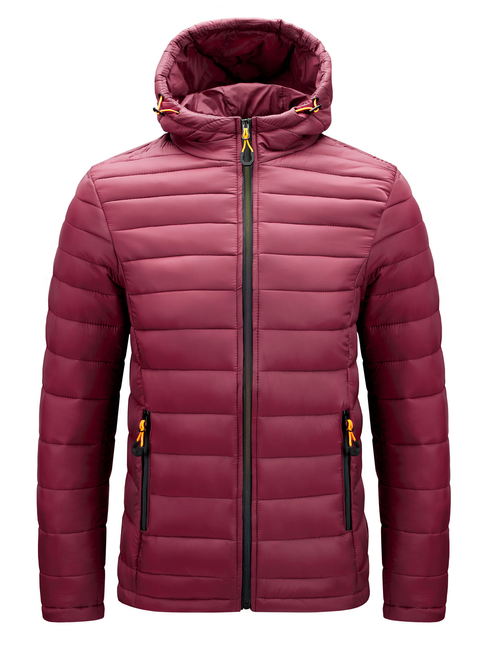 Padded Pure Plain Color Winter Men Outdoor Windproof Hooded Down Coat Down Jackets