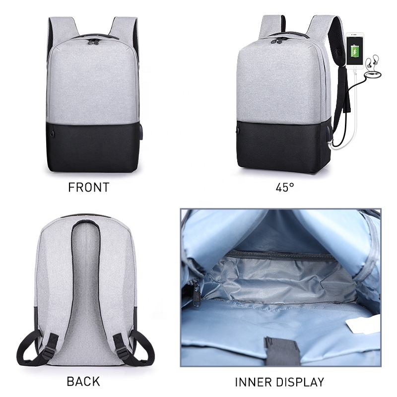 Изготовленная на заказ умная Противоугонная Водонепроницаемая мужская деловая сумка для ноутбука, противокражная usb сумка-рюкзак с usb-портом для зарядки