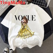 Kawaii Vogue футболка принцессы женская Эстетическая модная футболка для девочек Harajuku Ulzzang размера плюс корейский стиль женские футболки с графи...(China)