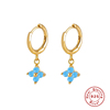 Blue Turquoise -Gold Color