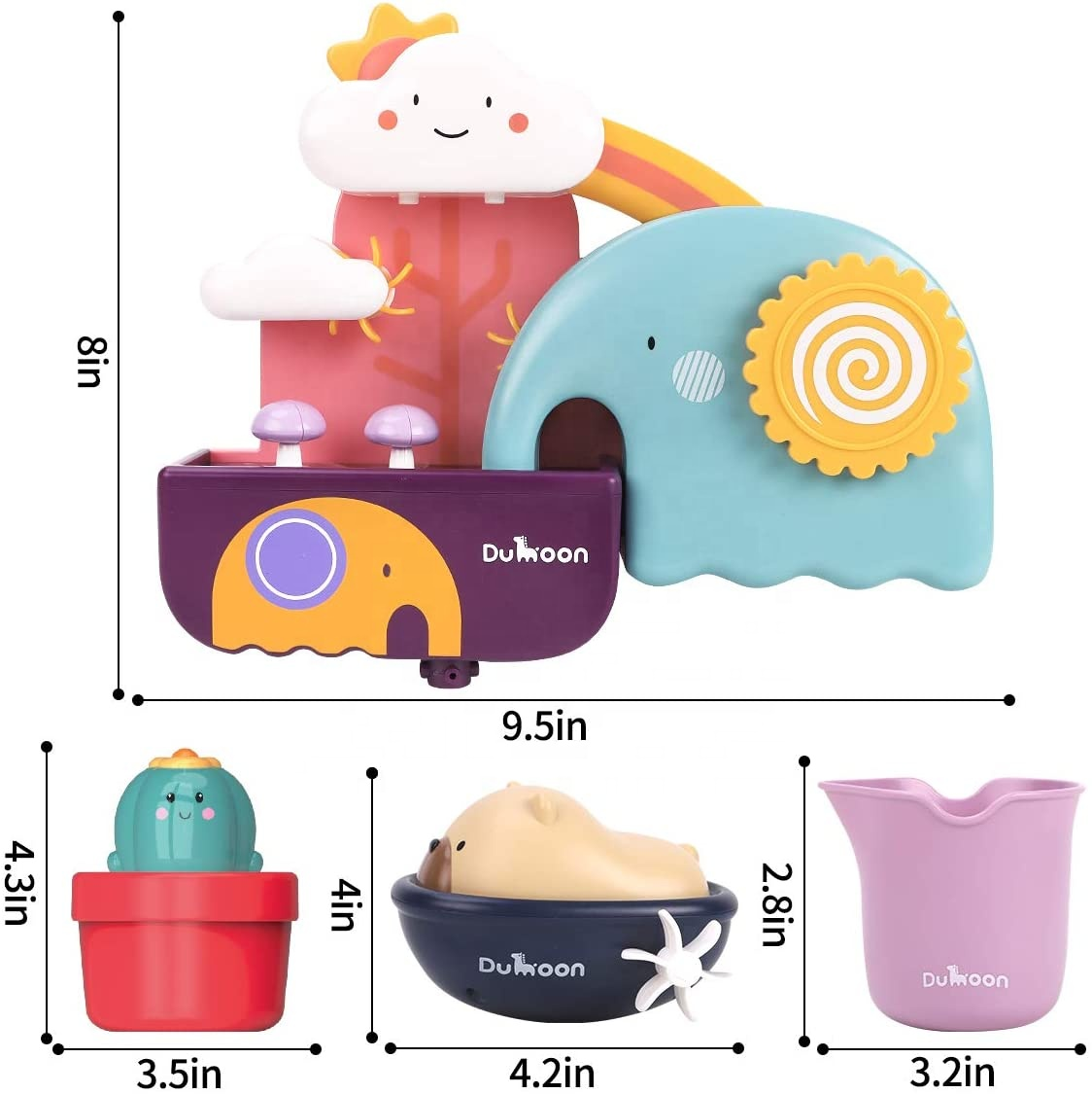Amazon Hot Selling Baby Bath toy Bathtub Wall Toy Elephant Waterfall for Toddlers