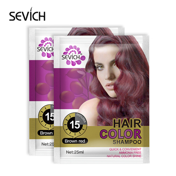 Wholesale Private Label hair dye brown hair color shampoo for women