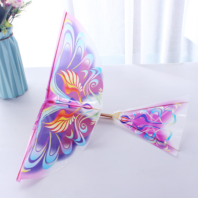 Power of Birds Bionic Air Plane DIY Elastic Rubber Band Power Flying Birds Model Kites Kids Outdoor Toys Children Assembly Gifts