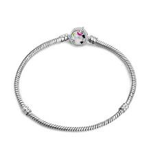 Новинка 2020, оригинальный браслет с подвеской, розовое золото, цепочка с Микки и змеей, подходит для Pan, базовые браслеты для модных женщин, бу...(Китай)