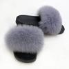 light grey lady fur slipper