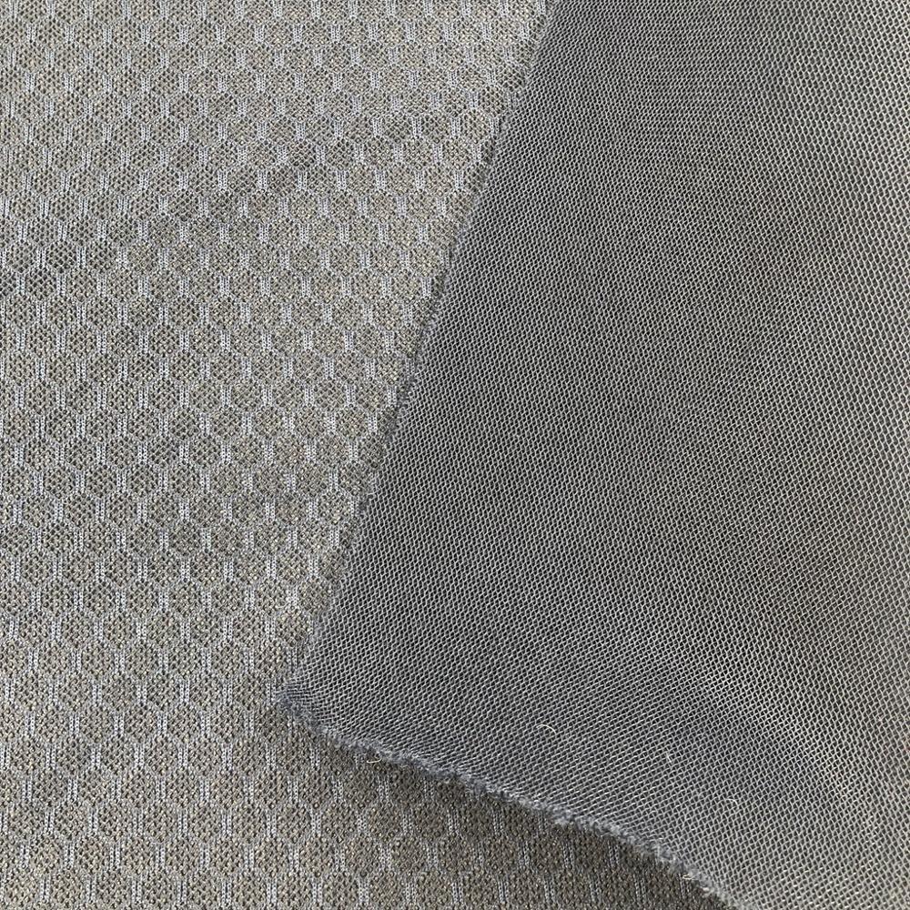 Wholesale breathable hexagon 3D sandwich mesh fabric honeycomb 3D air mesh fabric