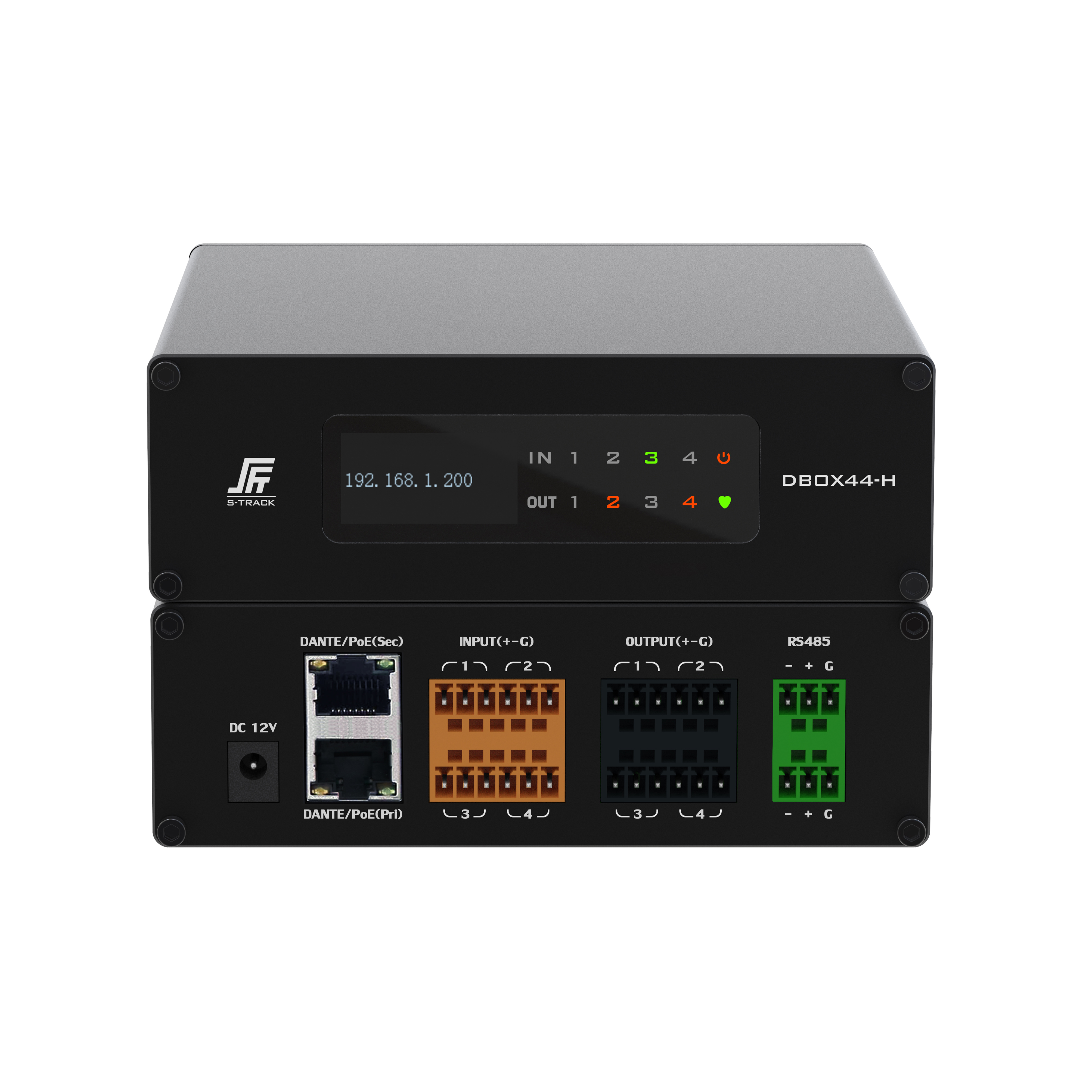 High Quality cheap price Build In DSP Dante IO audio interface 4x4
