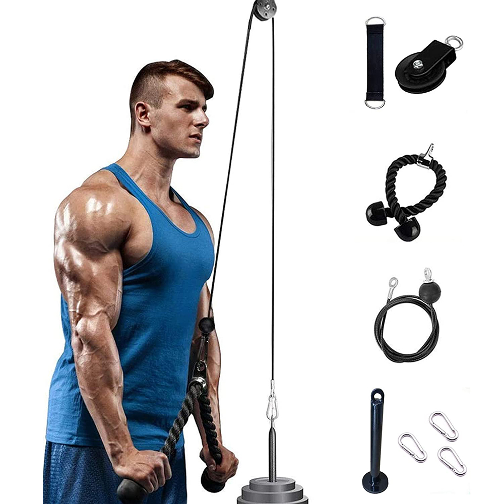 Fitness DIY Pulley Cable Machine Attachment System Arm Biceps Triceps Blaster