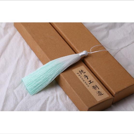 Multicolor Ice Silk Tassels Polyester Gradient Color DIY Jewelry Decorative Key Accessories Bag Tassel Fringe Trim