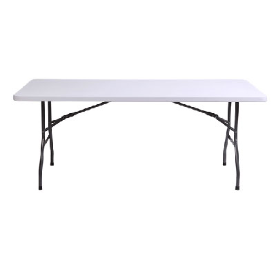 MOVAN Folding Utility Table, Fold-in-Half Portable Plastic Picnic Party Dining Camp Outdoor Table   Plastic Folding Table