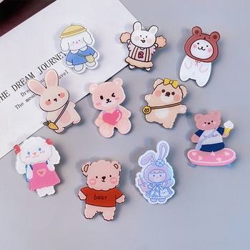 Trendy lovely Japanese creative acrylic small brooch girl clothes bag badge cartoon brooch PINS