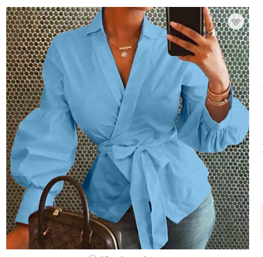 ZC H1105132A 2020 spring Women Blouses Shirt V Neck Tie Loose Ladies Print Blouse Female Top