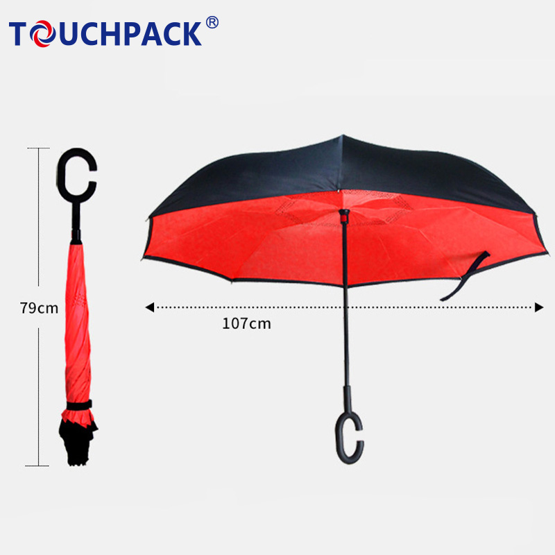 Inverted Umbrella with C-Shaped Handle with Anti-UV Function