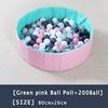 10-Green Pink Ball PooL+200 Ball