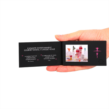 "Mini video business card , video player mailable greeting card with 2.4"" lcd screen,promotional video brochure"