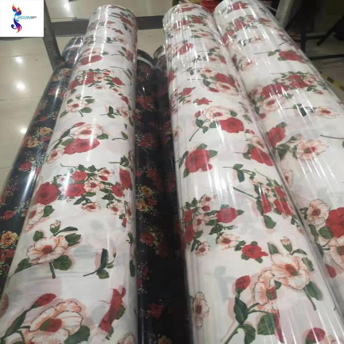 hot selling poly bubble chiffon print stocklot fabrics