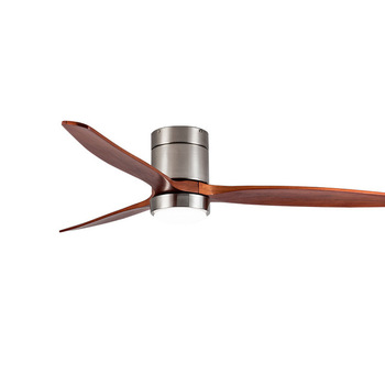 Decorative Solid Wood Blade Low energy Indoor Remote Control Ceiling Fan With LED Light Ventilador fan