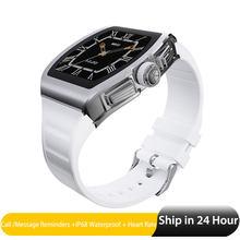 Смарт-часы для мужчин, монитор сердечного ритма, спортивные часы, золото 1,4 дюйма, IPS сплав, чехол, IP68, водонепроницаемые умные часы для Android IOS ...(Китай)