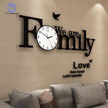 Big Wall Clock Modern Design Large Wall Clocks For Living Room Family Decoration Accessories Big Watch Simple Decor Single Face