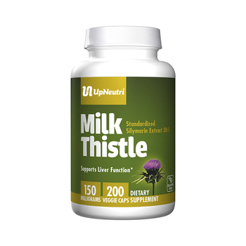 Pure Organic Milk Thistle (Silymarin Marianum) to Promotes Liver Health supplement Thistle capsules for men private label