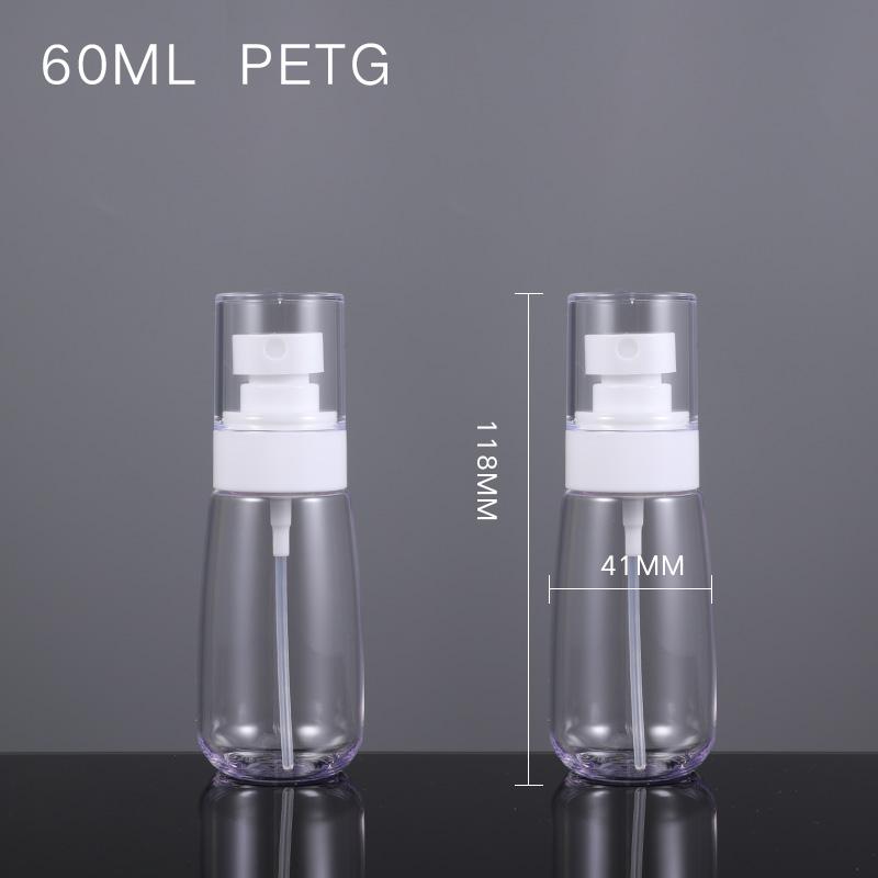 Оптовая продажа, экологически чистый, многоразовый, 60 мл, биоразлагаемый, пустой косметический, перерабатываемый, пластиковый Пустой Спрей для жидкости, роскошный