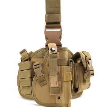 Hot Sale Detachable Outdoors MOLLE Military Tactical Pistol Handgun Drop Leg Gun Holster With Quick-Release Buckles