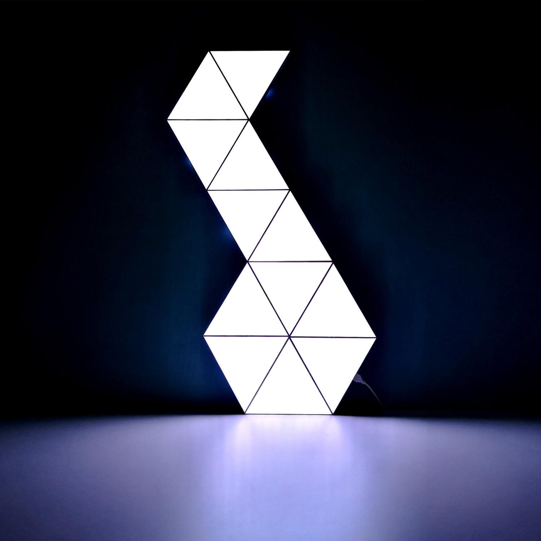 6 Pcs Music Rhythm Triangle Shape Smart Aurora RGB Dimmable Modular Panel LED Night Light Best Gaming Room Setup