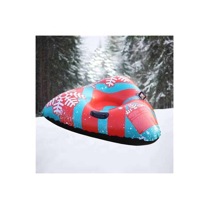 Сверхпрочная надувная треугольная Снежная трубка с твердым дном для детей