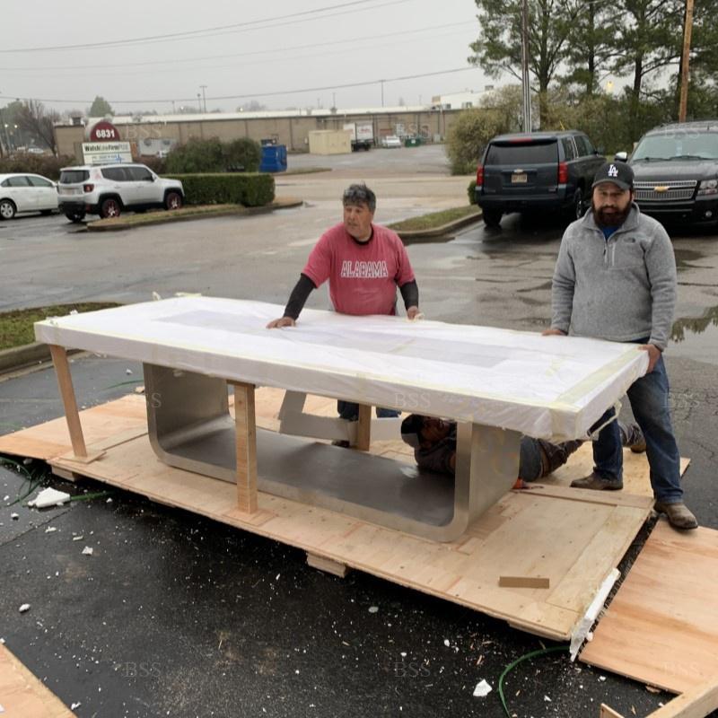 Стол с электроприводом для конференц-зала, маленький большой офисный стол под заказ, с длинным мраморным узором, современный дизайн, белый стол для конференц-зала