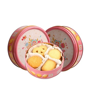 Lovely Box Style Metal Kids Children Cartoon Biscuit 4 Shapes Can Tinned Spicy Butter Homemade Halal Danish Cookies
