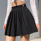 Hot Style Women Pleated Skirt Sexy Small Embroidery Elastic A-line Short Skirt